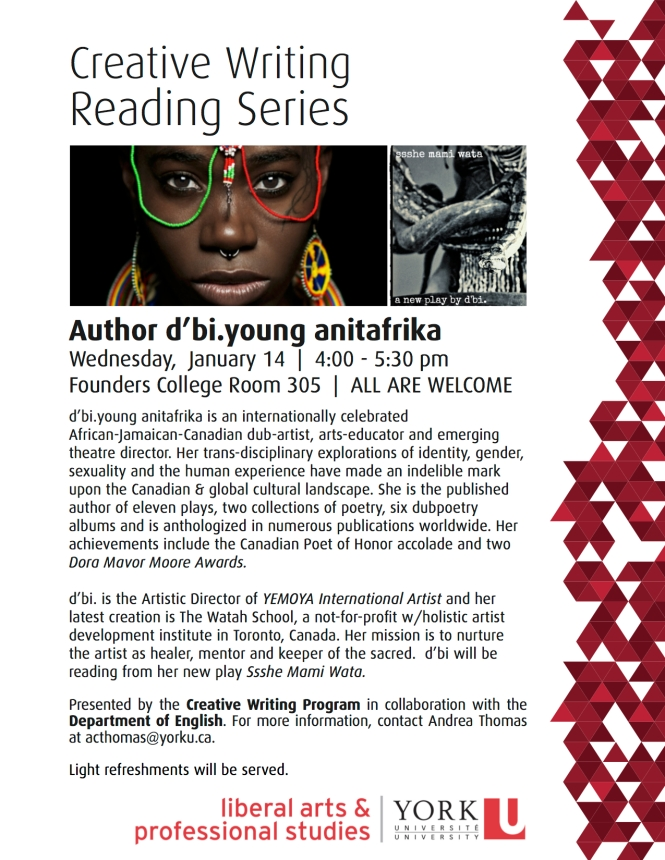 d'biyoung reads at York University